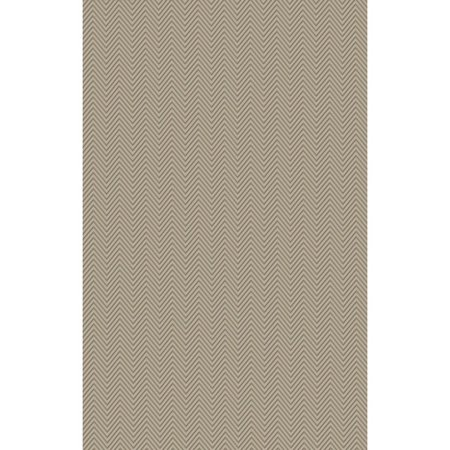 3.25' x 5.25' Primitive Chevron Sandy Brown and Mint Green Hand Woven Area Throw Rug (Primitive Font)