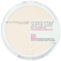 Maybelline Super Stay Full Coverage Powder Foundation Makeup, Matte Finish, Fair Porcelain