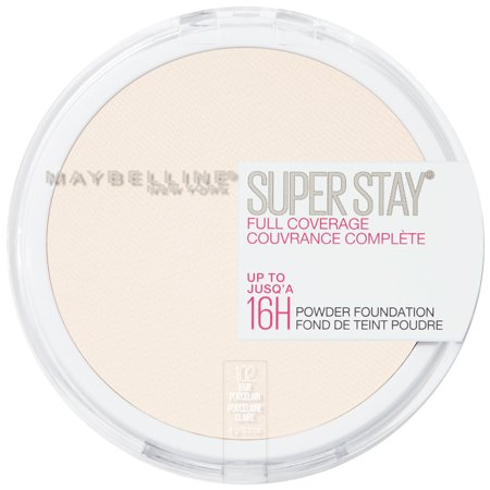 Maybelline Super Stay Full Coverage Powder Foundation Makeup, Matte Finish, Fair Porcelain - Men Halloween Face Makeup