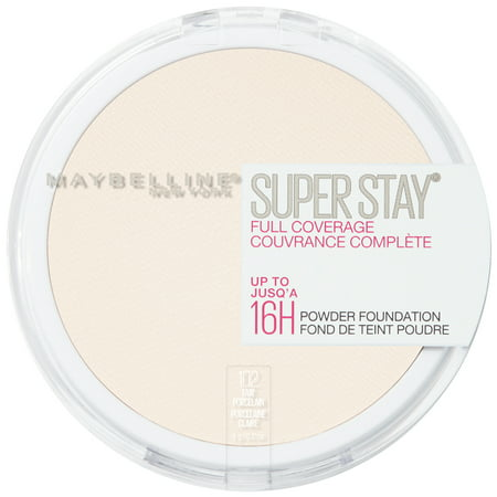 Maybelline Super Stay Full Coverage Powder Foundation Makeup, Matte Finish, Fair Porcelain - Halloween Tiger Face Makeup