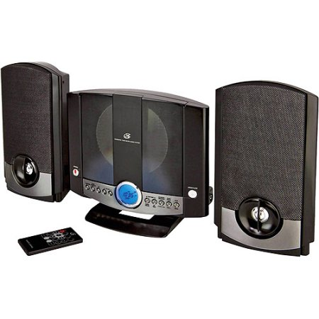 Buy GPX Wall-Mountable Micro Stereo System, HM3817DTBLK  by GPX
