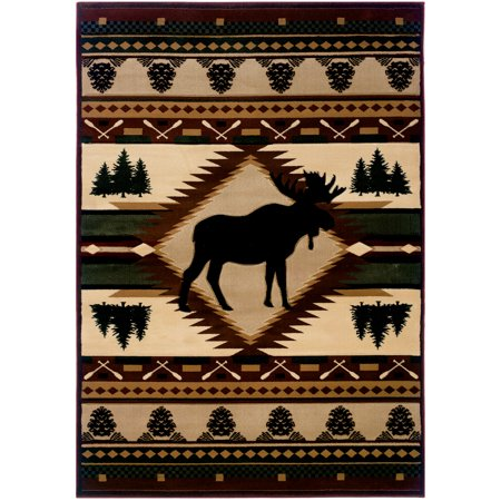 Wilderness Area Map (United Weavers Designer Contours John Q. Moose Wilderness Toffee Area Rug 5'3'' x 7'6'' )