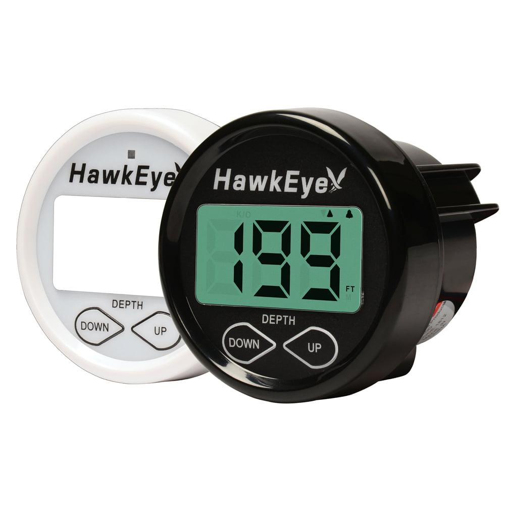 HawkEye In Dash Depth Finder w/Transom/In-Hull Mount Transducer