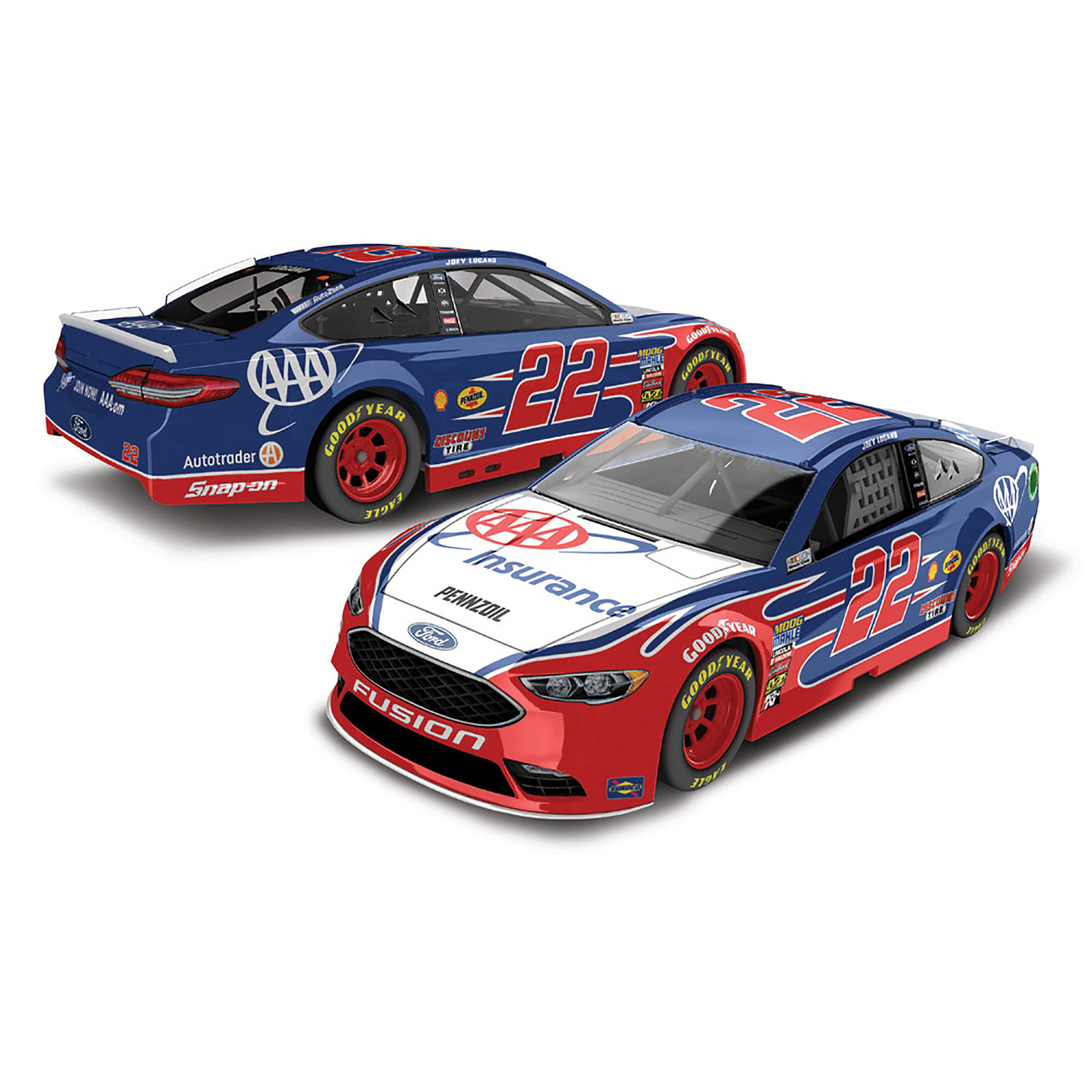 Joey Logano Action Racing 2018 #22 AAA Insurance 1:64 Regular Paint Die-Cast Ford Fusion - No Size