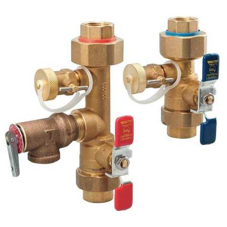 - WATTS LFTWH-UT-HC-RV Tankless Water Heater Valve Set,3/4 in.
