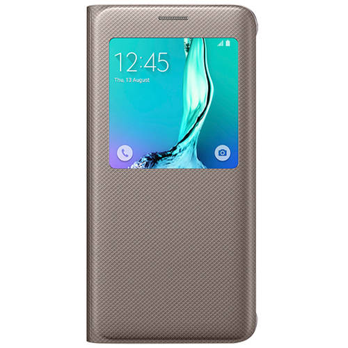 """Samsung S-View Flip Cover for Samsung Galaxy S6 Edgeplus - Gold S-View Flip Cover"""