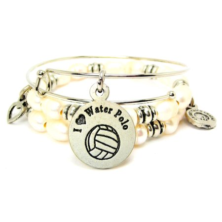 4d78a3324f Chubby Chico Charms I Love Water Polo Fresh Water Pearl Wrap Bracelet