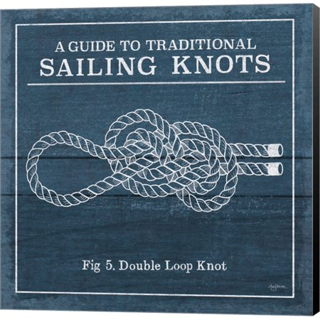 Vintage Sailing Knots V by Mary Urban, Canvas Wall Art (Vintage Knot)