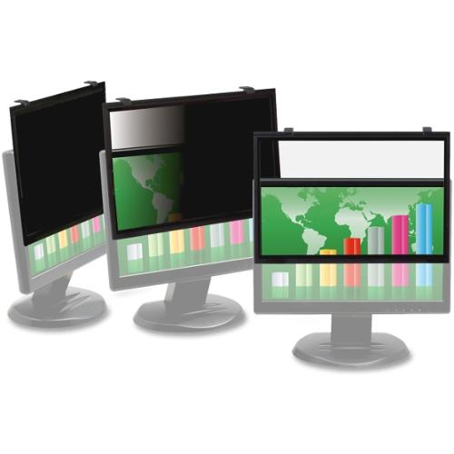 """3M PF320W Framed Privacy Filter for Widescreen Desktop LCD/CRT Monitor Clear - 20.1""""LCD Monitor"""