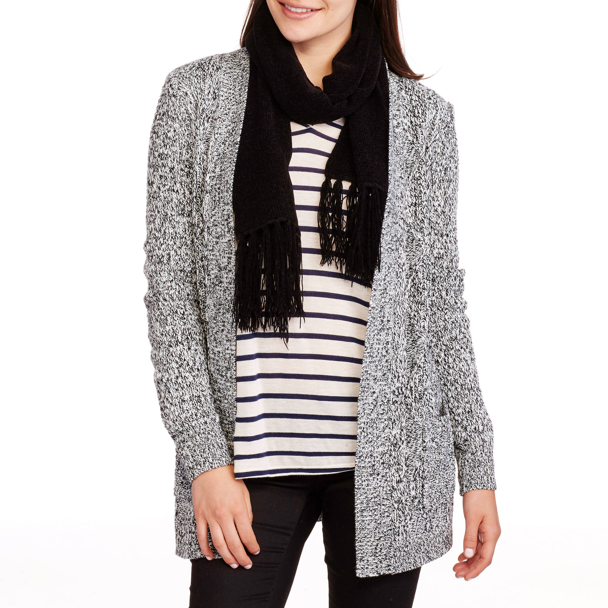 Faded Glory Women's 2 Pocket Cardigan Sweater
