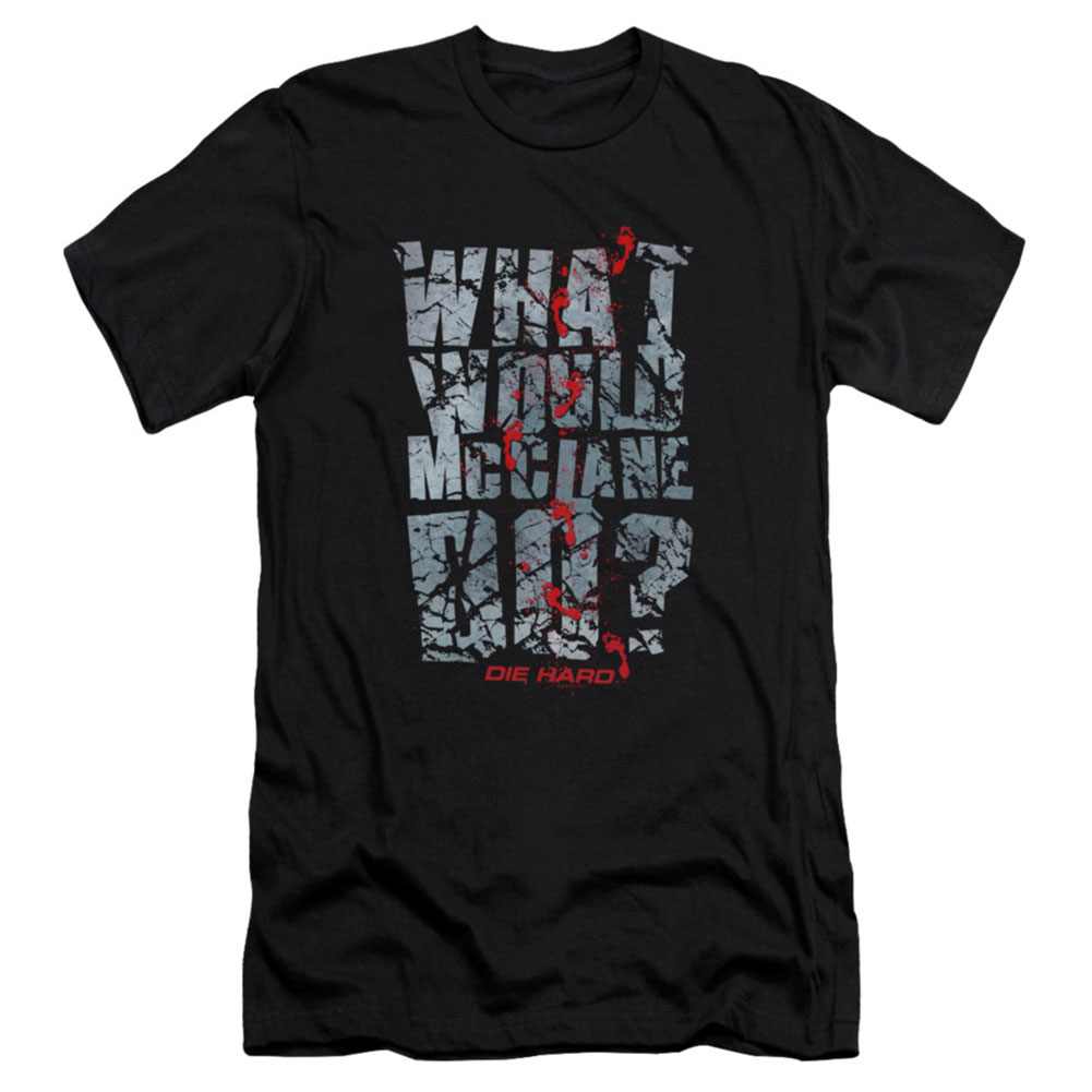 Die Hard Men's  Wwmd Slim Fit T-shirt Black