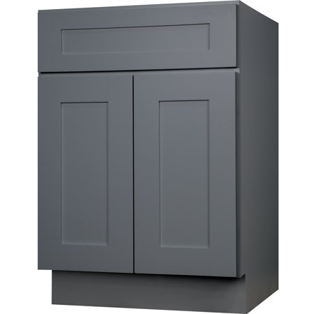 everyday cabinets 27 inch gray shaker single sink bathroom