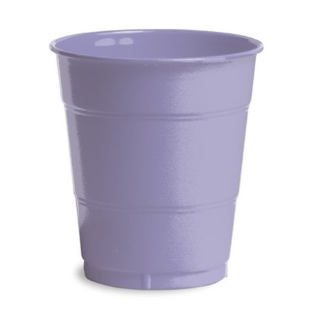 Club Pack of 240 Luscious Lavender Purple Disposable Plastic Drinking Party Tumbler Cups 12 oz. - Purple Plastic Cups