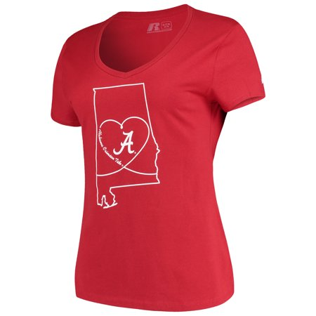 Women's Russell Crimson Alabama Crimson Tide State V-Neck T-Shirt ()