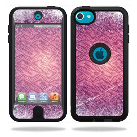 Mightyskins Protective Vinyl Skin Decal Cover for OtterBox Defender Apple iPod Touch 5G 5th Generation Case Purple - Purple Swirl
