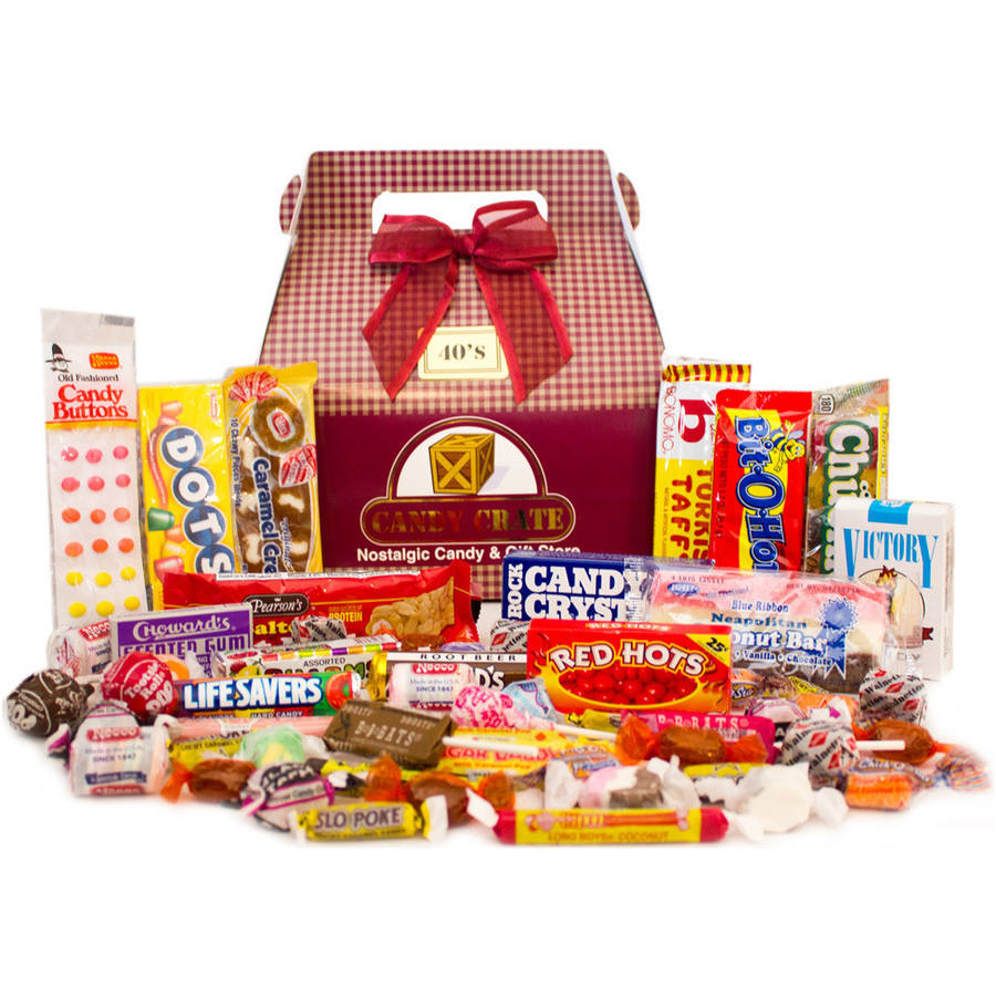 Candy Crate 1940's Retro Candy Gift Box, 2.5 lbs