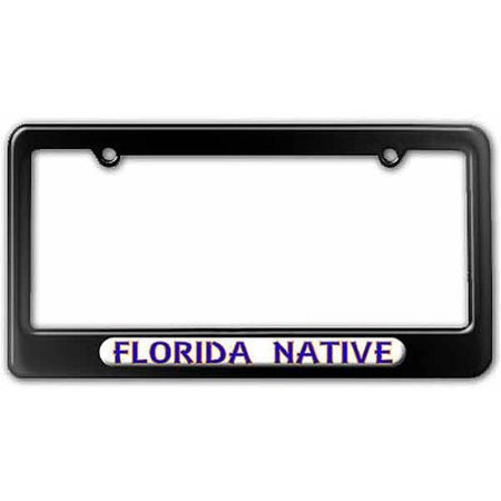 Florida Native, State Pride License Plate Tag Frame, Multiple Colors