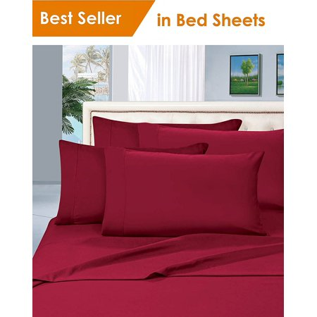 Elegant Comfort® 1500 Thread Count Egyptian Quality 2pcs PILLOW CASES - ALL SIZES AND COLORS, Queen, Burgundy - image 1 de 2