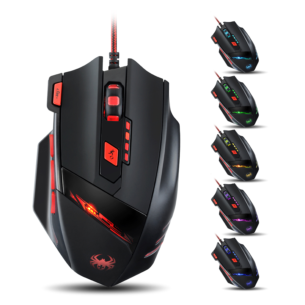 VicTsing Zelotes 9200 DPI 8 Buttons Design High Precision Gaming Mouse for PC Support Surface