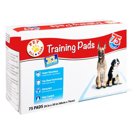 Pet All Star Xl Training Pads, 26 In X 30 In, 75 Count by Pet All Star