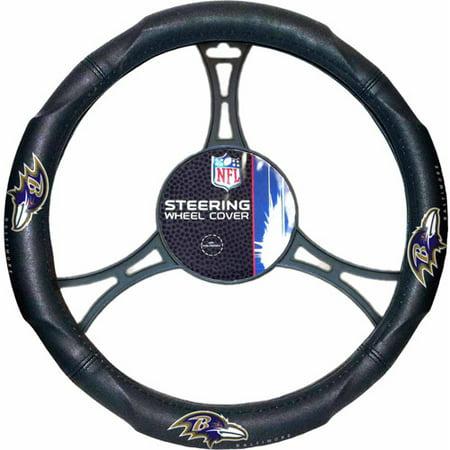NFL Steering Wheel Cover, Ravens (Ravens Steering Wheel Cover)