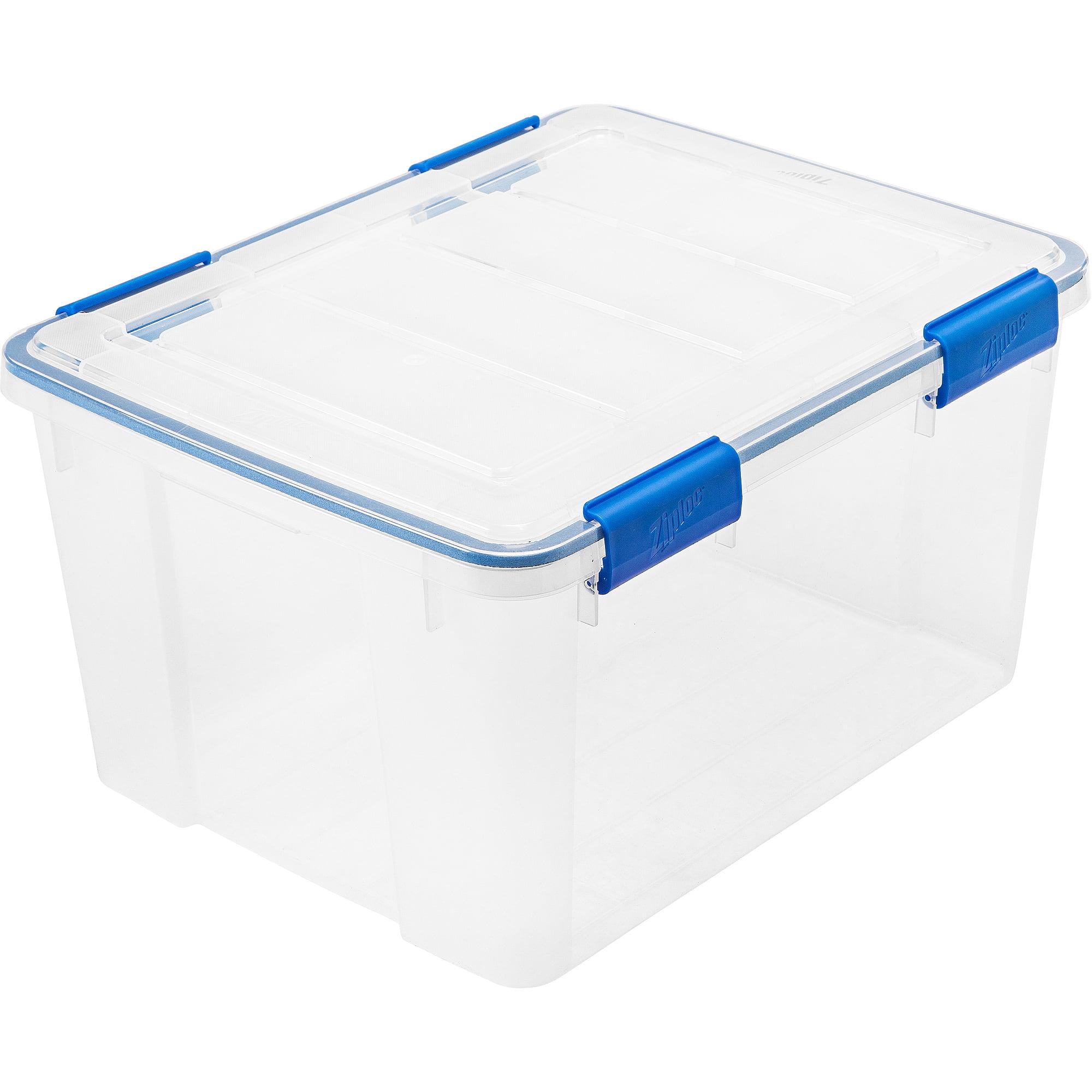 Ziploc 16 Qt./4 Gal. WeatherShield Storage Box, Clear   Walmart.com
