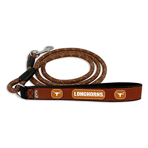 "NCAA TEXAS Longhorns Football Leather Rope Leash (L - 1"" in x 4' ft)"