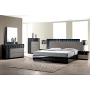 King Size Bedroom. Modern Romania 4 Piece Bedroom Set Eastern King Size Bed Leather Like  Exterior Mirror Dresser Nightstand Sized Sets