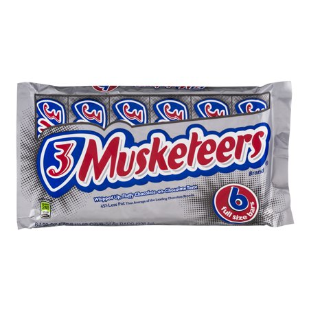 Image of 3 Musketeers Full Size Bars - 6 CT
