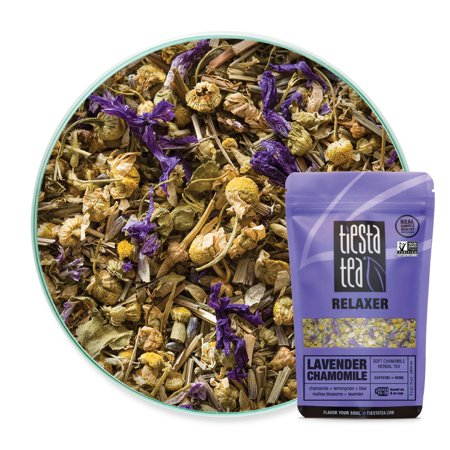 Tiesta Tea Lavender Chamomile, Soft Chamomile Herbal Tea, 30 Servings, 0.9 Ounce Pouch, Caffeine Free, Loose Leaf Herbal Tea Relaxer Blend, -