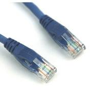 VCOM Cat6e Molded Patch 25' Cable, Blue