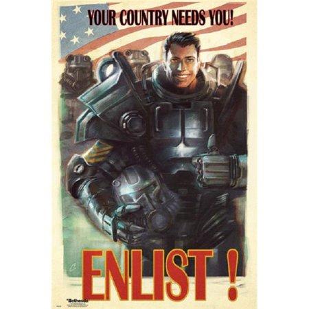 GB Eye XPE160461 Fallout 4 - Enlist Poster Print, 24 x 36 - image 1 de 1
