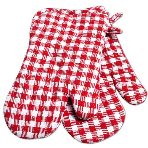 Sweet Home Collection Gingham Oven Mitt (Set of 2)
