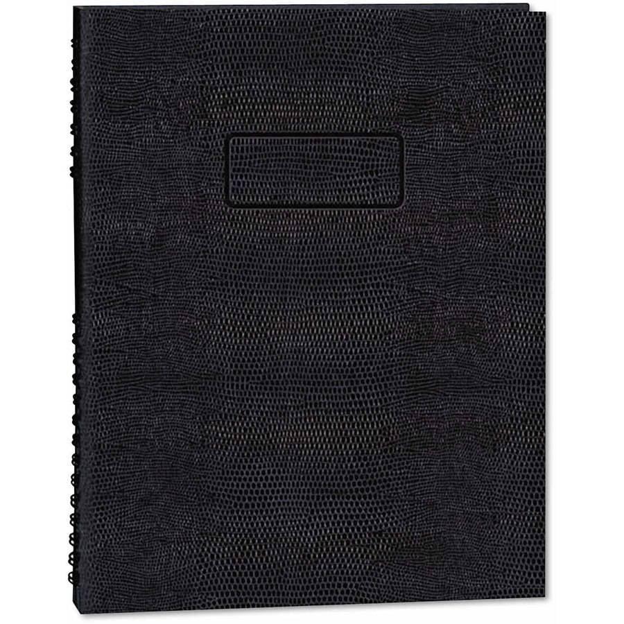 "Blueline Exec Wirebound Notebook, College/Margin Rule, 9-1/4"" x 7-1/4"", Black, 75 Sheets"