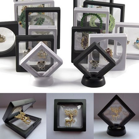 """3D 3.5x3.5"""" Square Coin Jewelry Protect Show Case Display Frame Floating Holder - image 1 of 6"""