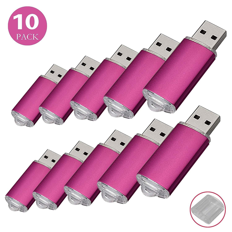 KOOTION 10 Pack 4GB USB 2.0 Flash Drives Memory Stick Thumb Drive, Pink
