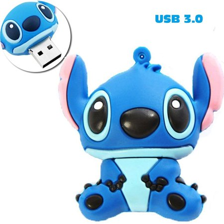PORTWORLD 32GB Cute Cartoon Stitch USB 3.0 Flash Drive Memory Stick with Keychain (Flash Drive Keychain)