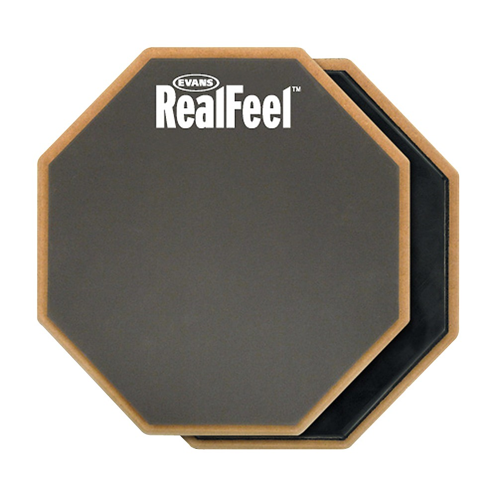 Evans RealFeel 2-Sided Speed and Workout Drum Pad Gray 6 in.