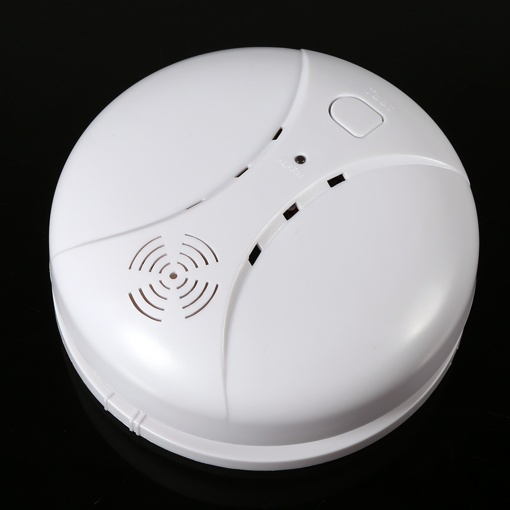 Ashata 433MHz Alarm Sensors Wireless Fire Smoke Detector for Home Office Security Alarming System, Battery Operated Smoke Alarm, Smoke Alarm