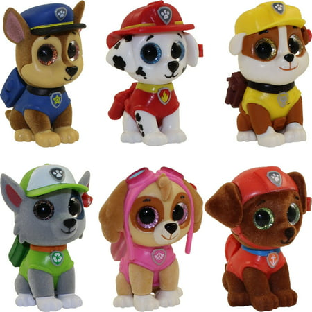 TY Beanie Boos - Mini Boos Paw Patrol Figures- SET OF 6 (Chase 95aa58fd02f