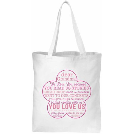 Personalized Love You Because Tote, Grandma, From Multiple Children, Available in 3 Colors