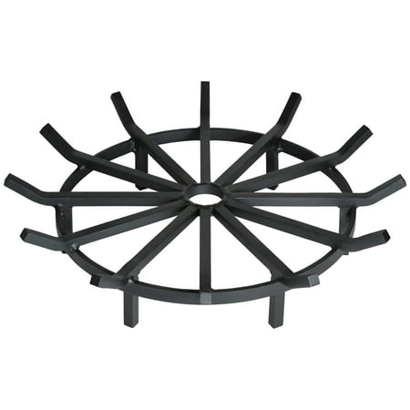 Heritage Products Super Heavy Duty Wagon Wheel Fire Pit Grate 28 Inch - Made in the (Heavy Duty Continuous Grates)