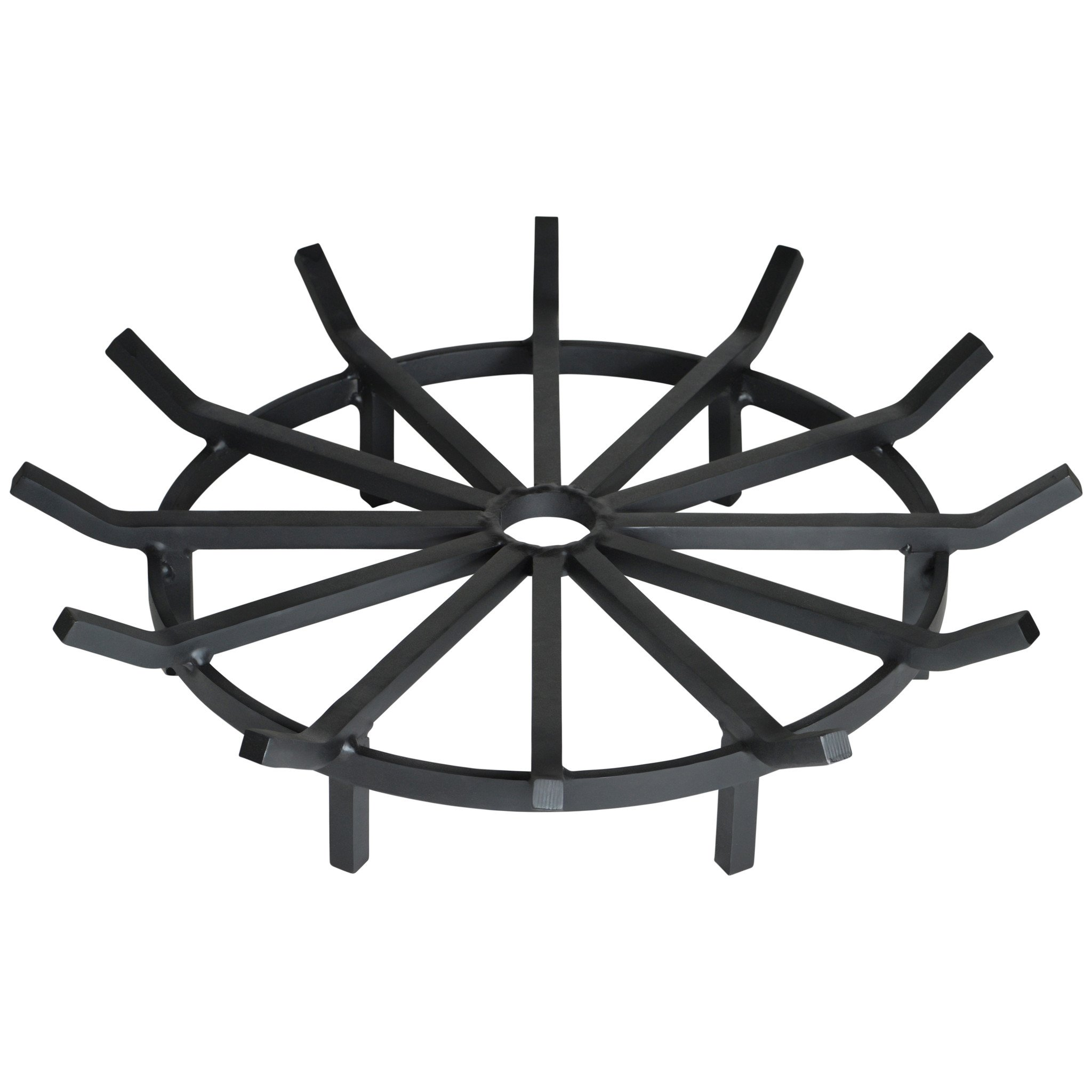 Heritage Products Super Heavy Duty Wagon Wheel Fire Pit Grate 28 Inch - Made in the USA