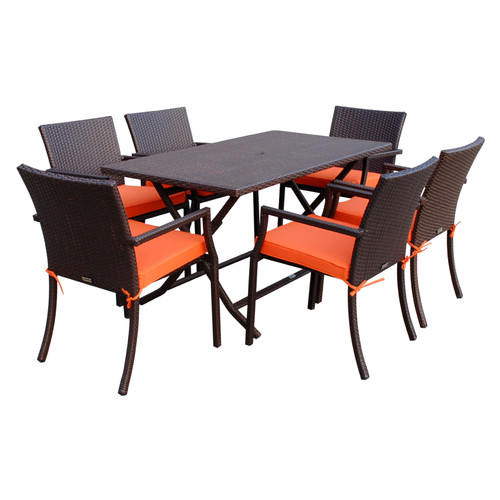 Jeco Inc. 7 Piece Dining Set with Cushions