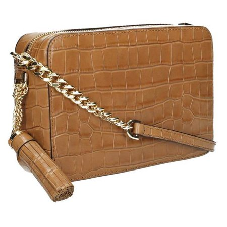 c83be19c1c25 Michael Kors - Ginny Embossed-Leather - Crossbody - Acorn - 32F7GGNM2E-532  - Walmart.com