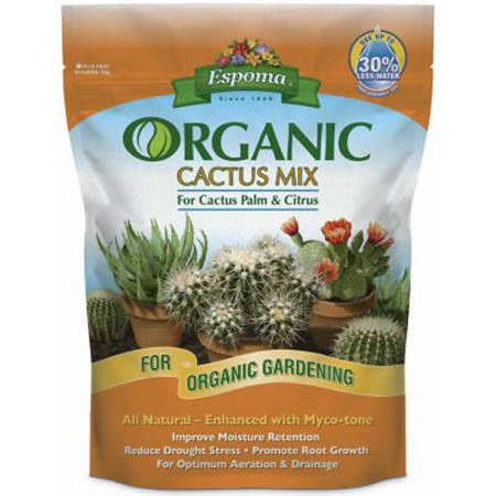 CA4 4-Quart Organic Cactus Mix, All natural mix enhanced with myco-tone By