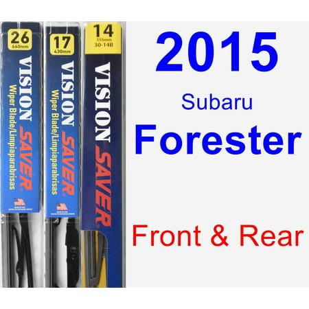 2015 Subaru Forester Wiper Blade Set/Kit (Front & Rear) (3 Blades) -