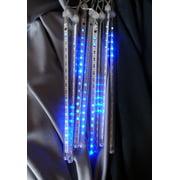 fantado 136 8 tubes blue led icicle snowfall rain christmas tube string lights - Snowfall Christmas Lights