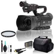 JVC GY:HM180 Ultra HD 4K Camcorder with HD:SDI Bundle with UV Filter and More