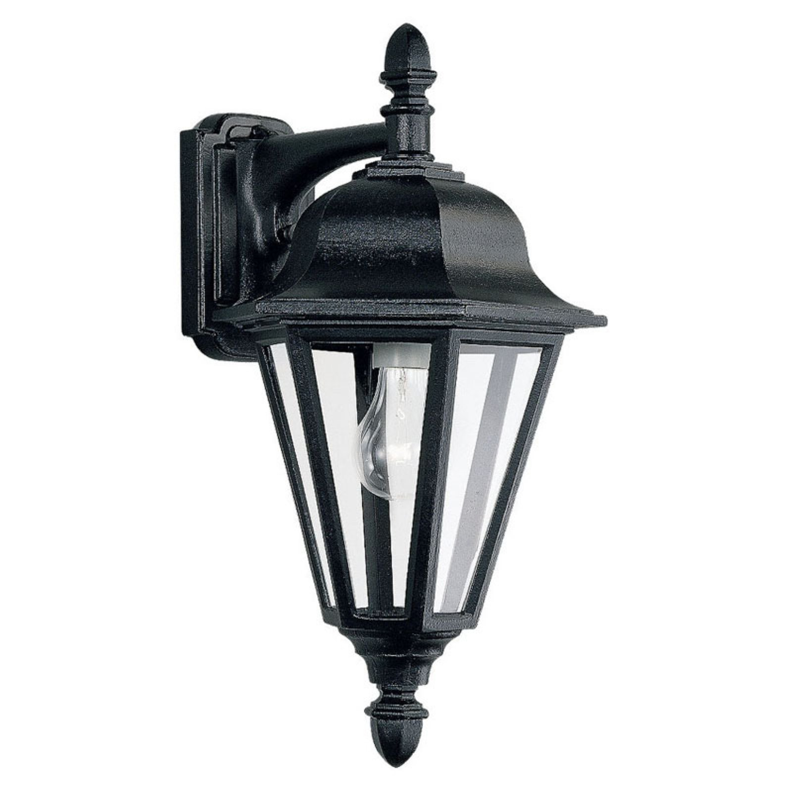 Sea Gull Brentwood Outdoor Hanging Wall Lantern - 18H in. Black